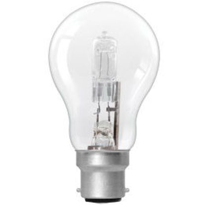 Picture of 75W=53W BC Clear GLS Halogen Light Globes (4 Pack)