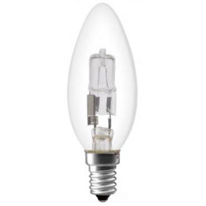 Picture of 28 Watt Energy Reduction Halogen Plain Candle Clear Globes (10 Pack)