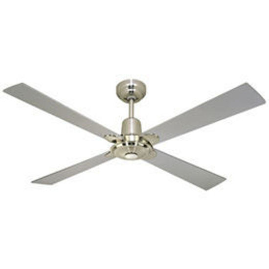Picture of Martec Four Seasons Alpha 4 Blade Ceiling Fan with Wall Control Brushed Nickel